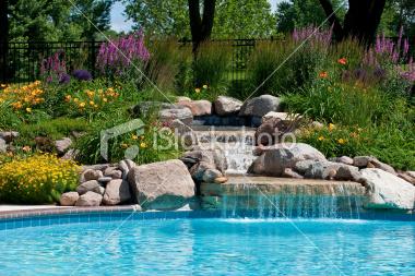 poolside-waterfall