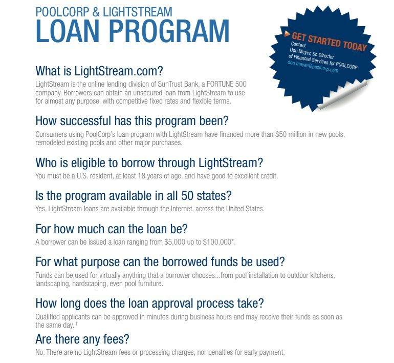 Pool Loan Questions
